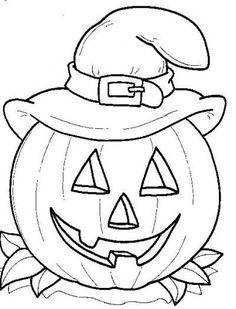 Jack O Lantern Witch Pumpkin Free Printable Coloring Pages