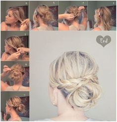 Chic Bun Updo for Medium Length Hair