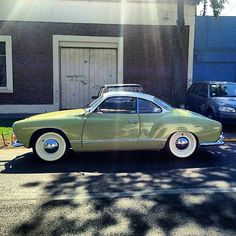 Green and white Karmann Ghia