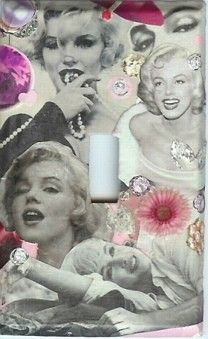 Original MARILYN MONROE light switch plate just $15.99 via johnny's girl - handmade, original, by sharonna misha designs   #marilynmonroe #normajean