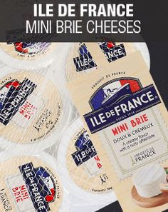 Get a free mini brie from our new Ile De France range by pinning a description on any of the cheeses. See web page for more information.