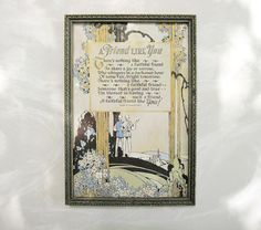 Friend Poetry Motto  Art Deco   A Friend Like You  by FoxberryHill, $40.00