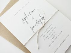 Rustic / Minimalist / Typewriter Wedding Invitation...like the font.
