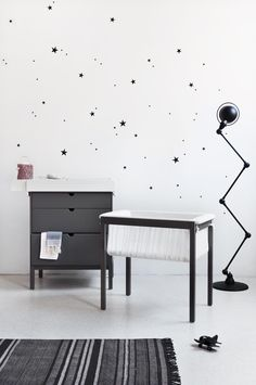 Stokke Home Cradle and Dresser in Hazy Gray featured on PROJECT NURSERY