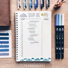 Back to the basics! A simple sleep tracker with an added section for energy log. I really need to fix my sleeping schedule, but I feel like I accomplish so much more at night... ≪QOTD: how many hours of sleep do you usually get?≫ ⠀⠀⠀⠀⠀⠀⠀⠀⠀ ✍ materials: @muji A5 notebook • Sakura pigma micron pens • Pentel energel 0.5mm • tombow dual brush pens