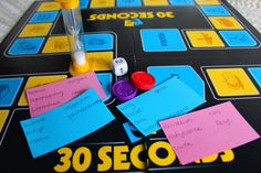 30 seconds babyversie spelletjes babyshower Baby Shower Games, Baby Boy Shower, Baby Shower Favors, Second Baby Showers, Gender Party, Reveal Parties, 40th Birthday, Gender Reveal, Board Games