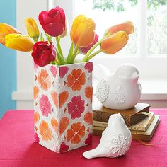 Make a Mosaic Vase - fun Mother's Day project