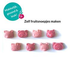 Gezonde snoepjes maken No Sugar Snacks, Fruit Snacks, Lunch Snacks, Healthy Snacks, Candy Recipes, Baby Food Recipes, Home Made Candy, Natural Candy, Sports Food
