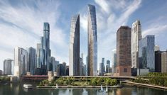 David Childs redesigns halted towers for Chicago Spire site Chinese Architecture, Futuristic Architecture, Architecture Office, North Tower, Chicago River, Chicago Usa, Chicago Tribune, Tower Design, The Two Towers