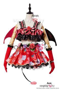 Love Live! New SR Rin Hoshizora Little Demon Transformed Uniform Halloween… Costume  Halloween f7791cd9d4d7