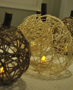 Twine pumpkins! Who would've thought?!
