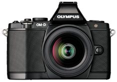 Olympus OM-D Digitalkamera - Schwarz (Kit mit M.Zuiko Digital ED Objektiv) Cameras Nikon, Slr Camera, Camera Pouch, Olympus Digital Camera, Digital Slr, Secure Digital, Compact, Smartphone, Camera Equipment