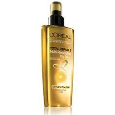 L'Oreal Advanced Haircare -  Total Repair 5 Multi-Restorative Dry Oil (normal to fine hair) - Hair Oil.