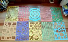 texture plate ideas Life and Art by Mandy van Goeije: So excited: Gelli Plates