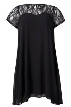 Yoursclothing Womens Plus Size Chiffon Swing Dress With Lace Contrast Size 28-30 Black YoursClothing http://www.amazon.com/dp/B00IGJIA3Q/ref=cm_sw_r_pi_dp_oMl9tb0QQSG7Q