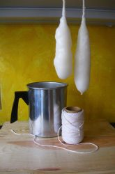 Make Colonial Dipped Candles