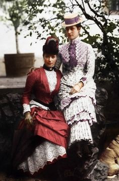 Sisters, princesses of Denmark - Dagmar (L) Empress of Russia and Alexandra, Queen of the UK
