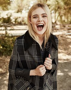 Elle Fanning by Billy Kidd for The Edit Magazine September 2015 - Miu Miu Pre-Fall 2015 coat