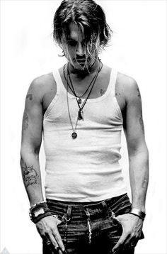 you cant describe Johnny Depp, he's so different. & that's the best characteristic anyone could have.