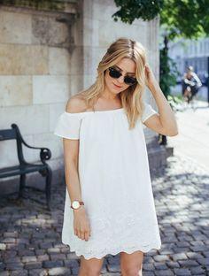 Pinterest : 43 looks avec une robe blanche à copier cet été
