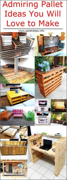 Wooden pallet is something that a lot of people enjoy making and dealing with. People are usually very happen when they are into wood and they are being creative. It comes out naturally to a lot of people. This is the best way to have a great time and be innovative. There are pallet ideas that are so admiring that you can enjoy making.