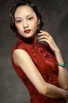 Custom Cheongsam Chinese Couture Wine Red - $342 - SKU: 361207 - Custom Now: http://elegente.com/redshop.html #REDPALACE #Cheongsam #Qipao