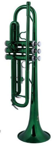 Brass Bb Trumpet green color suitable for beginner players by Eastern music
