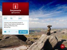 50 Twitter Tips (22). Full presentation: https://www.slideshare.net/Socjomania/the-ultimate-guide-to-twitter-50-useful-tips  #Twitter #TwitterTips #SocialMedia #SocialMediaTips