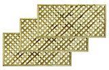 Woodbury Timber Square Trellis Panel M, Pack of 3 Trellis Panels, Packing, Garden, Bag Packaging, Garten, Lawn And Garden, Gardens, Gardening, Outdoor