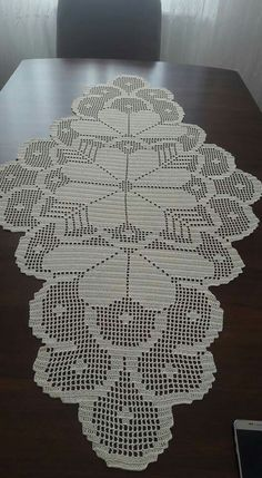 Doilies Crochet Table Runner Blue Carpet Crochet Blocks Crafts With Bottles Napkins Table Toppers Place Mats Filet Crochet Charts, Crochet Doily Patterns, Thread Crochet, Crochet Designs, Crochet Doilies, Crochet Flowers, Hand Crochet, Flower Patterns, Crochet Stitches