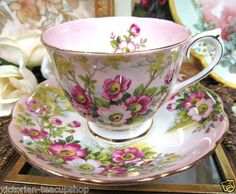 Royal Albert Wild Rose Tea Cup and Saucer