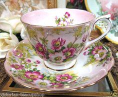 Royal Albert Wild Rose Tea Cup and Saucer