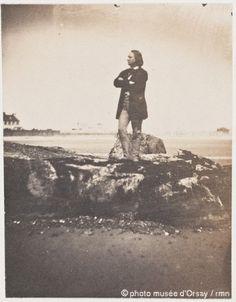 Victor Hugo sur la grève d'Azette, Charles Hugo (1853)