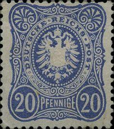"""Briefmarke: """"PFENNIGE"""" with final """"E"""". (Deutschland (Deutsches Reich)) (Eagle) Mi:DR 34,Sn:DR 32,Yt:DR 33"""