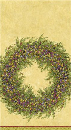 Amazon.com - Entertaining with Caspari Berry Wreath Paper Guest Towels, Gold, Pack of 15 - Hand Towels