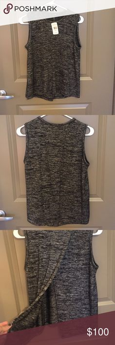Rag & Bone Split Back Top - NWT Brand new with tags!!! Size small. Rag & Bone purchased at Nordstrom. Top has a split back all the way to the neck line with overlapping pieces - perfect to wear with a lace bandeau. Color is heathered black. Price is firm. rag & bone Tops Tank Tops