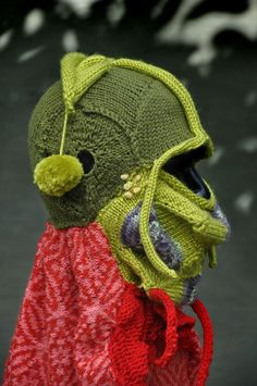 Brutal Knitting. Beautifully demented wearable art! I love it!