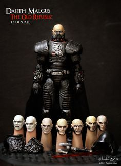 Darth Malgus - 1:18 scale sculpt from Star Wars: The Old Republic. Hand sculpted and painted, fully articluated.