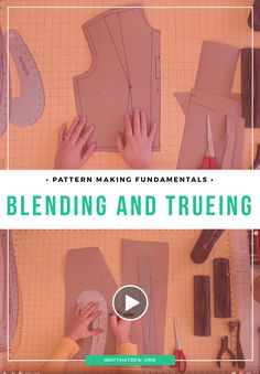 Blending is the process of smoothing and shaping angular and curved lines on a seam to create a nice transition.  Trueing includes checking to make sure seam lengths match, corners are 90° angles where necessary, as well as folding darts to create proper seam pattern shape. Basically, it's like putting the finishing touches on your pattern before it becomes a production, or a sewing pattern.