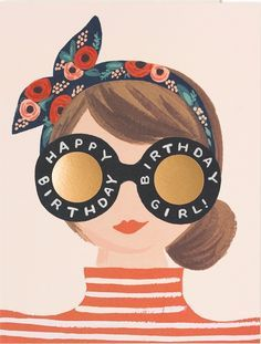 Wish the birthday beauty a happy day with this adorable Rifle Paper Co. Includes rose golf foil stamp, soft white envelope and blank interior. Made in USA Happy Birthday Girls, Happy Birthday Quotes, Happy Birthday Images, Happy Birthday Greetings, Birthday Messages, Birthday Pictures, It's Your Birthday, Hipster Birthday, Happy Birthday Vintage