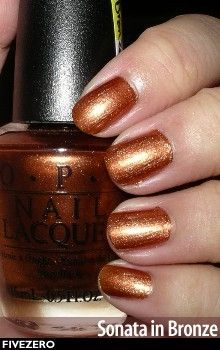 OPI Sonata in Bronze - $8s shipping and DC included. From the Holiday in Harmony Collection.
