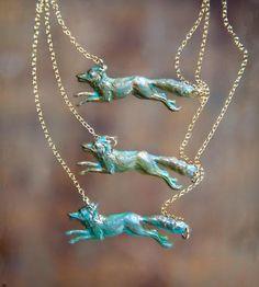 Patina Fox Necklace | Lanyapi Designs | Scoutmob Shoppe |