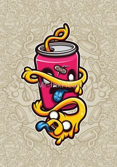 """""""Can of Jake Cartoon Character"""" Photographic Prints by Mr-InkHeart   Redbubble"""