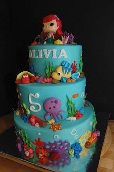 Olivia's Ariel Cake-- just found online. Scary. I have a kindred spirit out there.