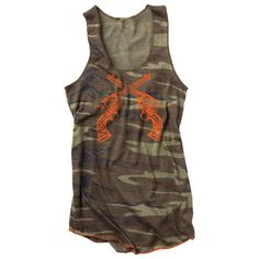Country Girl Pattern Tank omg i love this camo tank top! pistols ;) need to start doin some pushups :)