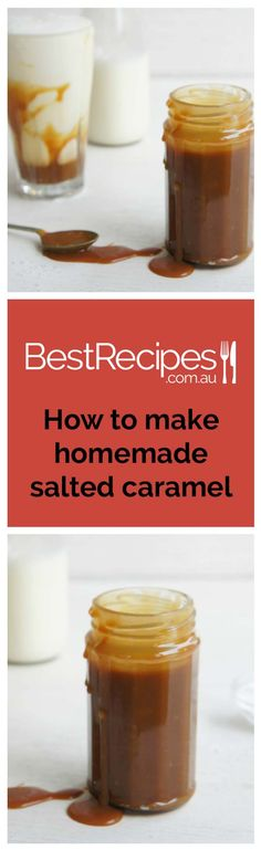 Quick an easy recipe for making homemade salted caramel sauce.