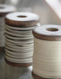 vintage ribbon spools. I want to tie this in my hair and on my wrists and everything I own!