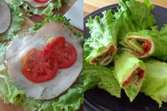 Skinny Lettuce Wraps with Turkey and Tomato
