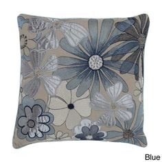 Multi Flower 18-inch Decorative Pillow | Overstock.com