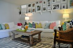 Living Room Tour, Welcome to our living room. I love bright, airy spaces and I tried to do the best I can with this small living room where the front door opens right into it.   The paint color is sterling by behr. , Living Rooms      Design